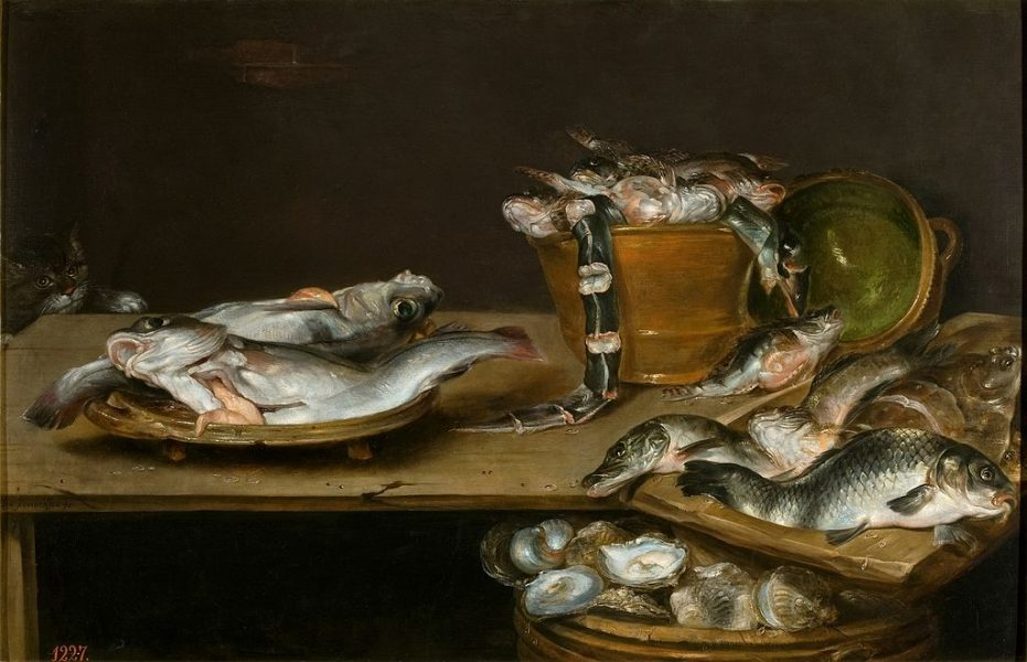 /var/folders/qr/wwz2fnvd5hv53zy92nbn1crr0000gn/T/com.microsoft.Word/WebArchiveCopyPasteTempFiles/Alexander_Adriaenssen_-_Still_life_of_table_with_fish_oysters_and_a_cat-e1544021113102.jpg